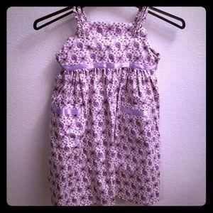 Other - Purple Flowered Childs Dress (Handmade)